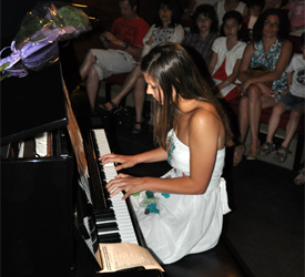 Audition de piano au Château de Ripaille
